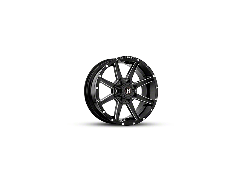 Ballistic Razorback Gloss Black Milled 6-Lug Wheel - 18x9 (04-18 F-150)