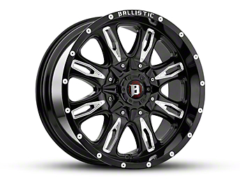 Ballistic Scythe Gloss Black Milled 6-Lug Wheel -18x9 (04-18 F-150)