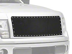 SpeedForm Wire Mesh Upper Grille Insert with Frame and Rivets; Black (09-14 F-150, Excluding Raptor)