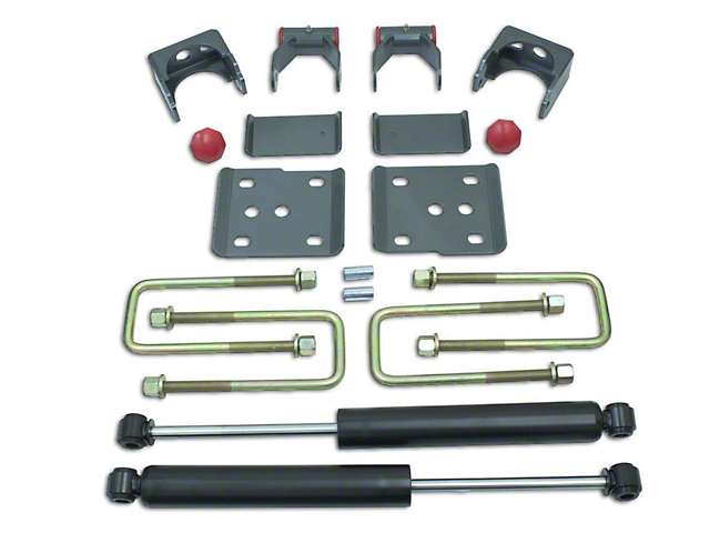 Max Trac Rear Flip Lowering Kit with Max Trac Shocks; 4-Inch (15-20 2WD F-150)