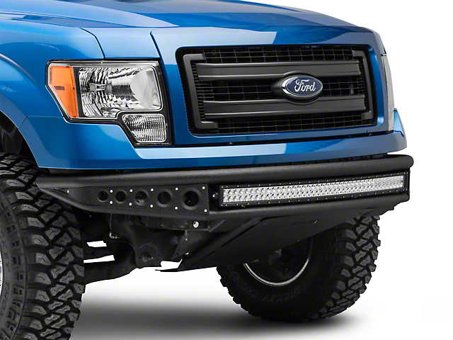 DV8 Offroad Baja Style Full Width Front Bumper with Light Bar (09-14 F-150, Excluding EcoBoost & Raptor)