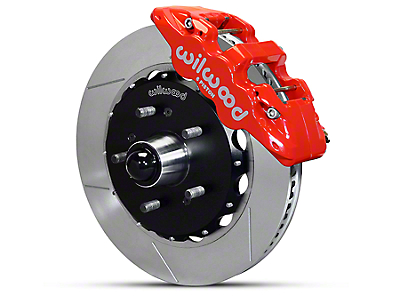 Wilwood AERO6 Front Brake Kit w/ Slotted Rotors - Red (97-03 2WD F-150)