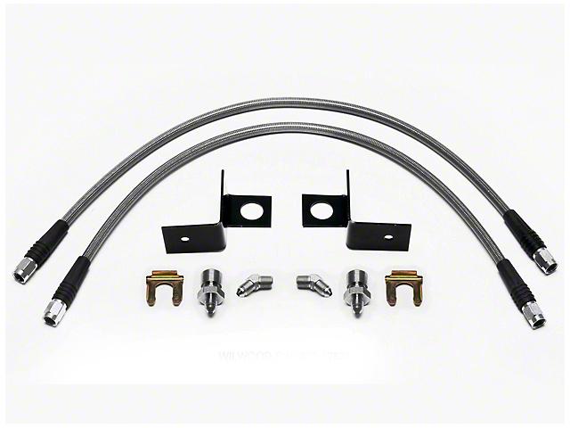 Wilwood Caliper Flexline Brake Line Kit - Front (97-03 2WD F-150)