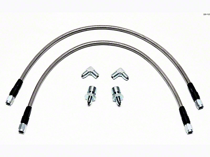 Wilwood TC6R Caliper Flexline Brake Line Kit - Front (04-08 2WD F-150)