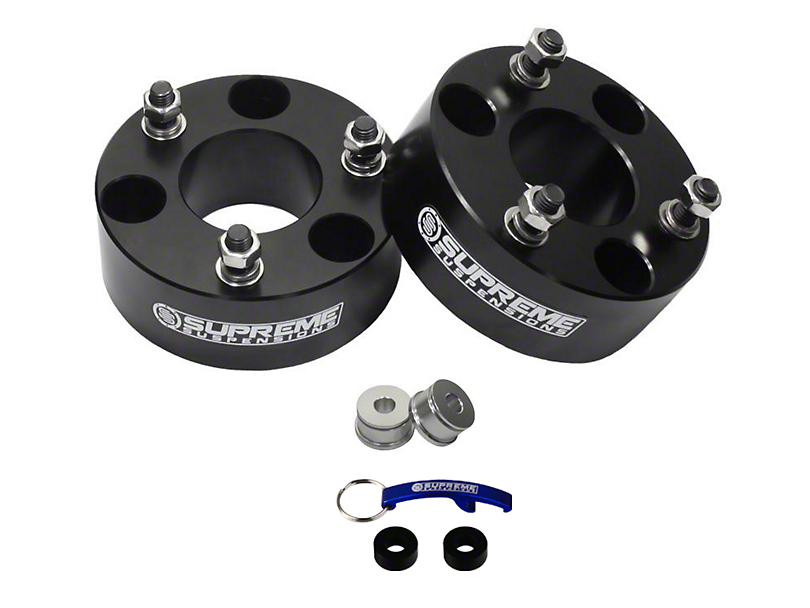 Supreme Suspensions 2 in. Pro Billet Strut Spacer Leveling Kit (04-19 2WD/4WD F-150, Excluding Raptor)