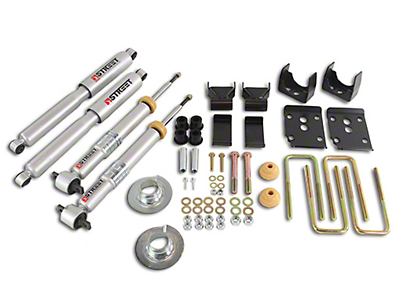 Belltech Stage 3 Lowering Kit w/ Street Performance Shocks - +1-3 in. Front / 5.5 in. Rear (15-18 2WD F-150 SuperCab, SuperCrew)