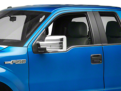 Black Horse Off Road Full Mirror Covers - Chrome (09-14 F-150 w/o Towing Mirrors)
