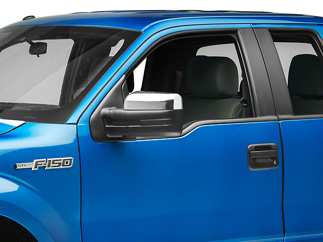 Black Horse Off Road Upper Mirror Covers - Chrome (09-14 F-150 w/o Towing Mirrors)