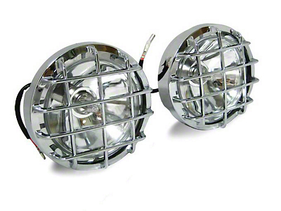 Black Horse Off Road 5 in. Round Chrome LED Lights - Fog Beam