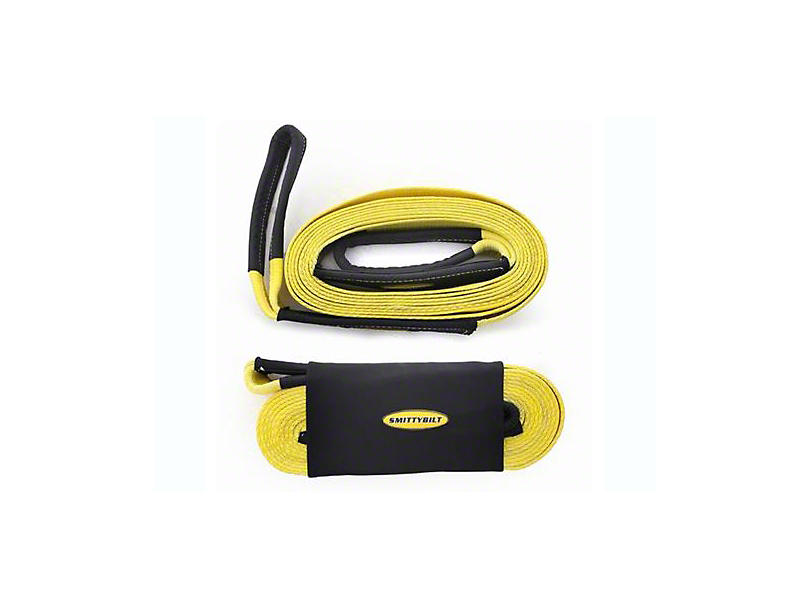 Smittybilt 2 in. x 30 ft. Recovery Tow Strap - 20,000 lb.