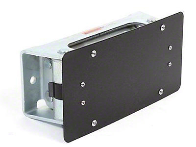 Smittybilt License Plate Bracket for 4 Way Roller Fairleads (97-19 F-150)