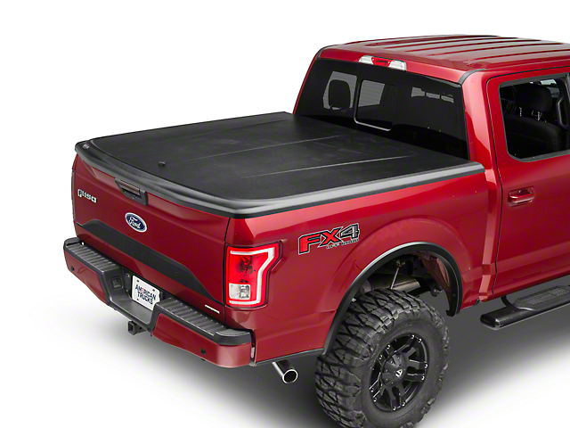UnderCover SE Hinged Tonneau Cover; Black Textured (15-20 F-150 w/ 5-1/2-Foot & 6-1/2-Foot Bed)
