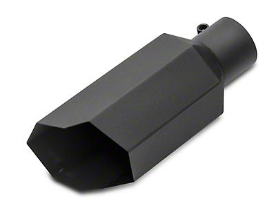Barricade 5 in. Stagger Cut Exhaust Tip - Black - 3.0 in. Connection (97-18 F-150)