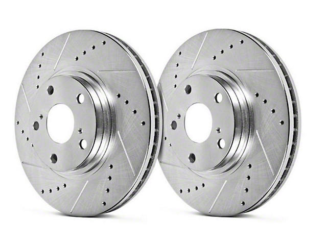 Hawk Performance Sector 27 Drilled & Slotted 8-Lug Rotors - Rear Pair (00-03 2WD F-150 w/ 8 Lug)