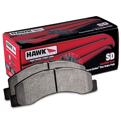 Hawk Performance SuperDuty Brake Pads - Rear Pair (15-18 F-150 w/ Electric Parking Brake)