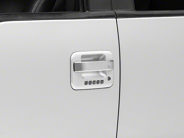 SpeedForm Chrome Door Handle Covers; Center Section Only (04-14 F-150 SuperCrew)