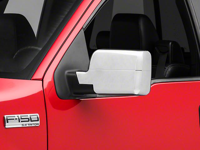 RedRock 4x4 Mirror Covers; Chrome (04-08 F-150)