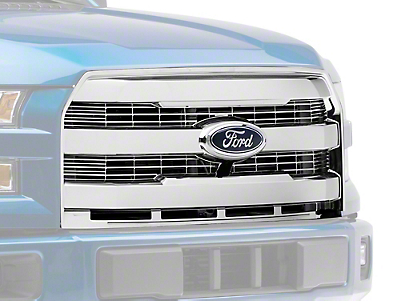 Upper Replacement Grille - Chrome (15-17 F-150, Excluding Raptor)