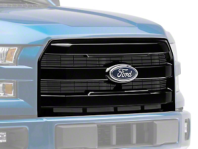 Upper Replacement Grille - Gloss Black (15-17 F-150, Excluding Raptor)