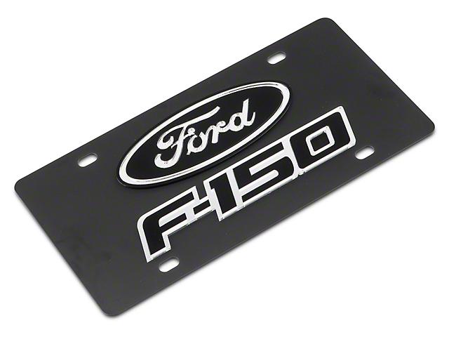 SpeedForm Carbon Steel License Plate w/ Ford Oval F-150 Logo (97-20 F-150)