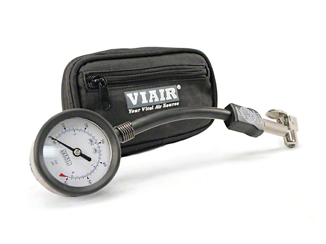 Viair 2.5 in. Air Down Tire Gauge - 0-100 PSI