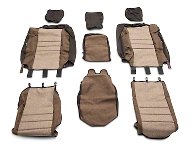 Fia Custom Fit Tweed Front Seat Covers - Taupe (04-08 F-150 w/ Bench Seat)