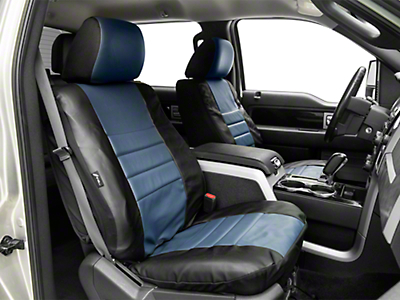 Fia Custom Fit Leatherlite Front Seat Covers - Blue (09-14 F-150 w/ Bucket Seats)