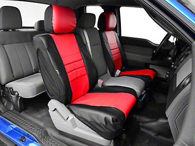 Fia Custom Fit Leatherlite Front Seat Covers - Red (09-14 F-150 w/ Bucket Seats)