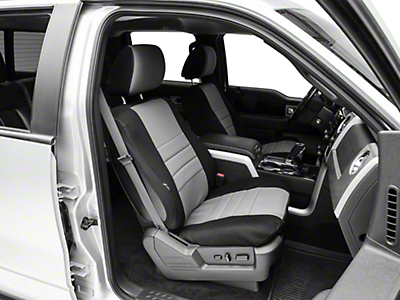 Fia Custom Fit Neoprene Front Seat Cover - Gray (09-14 F-150 w/ Bucket Seats)