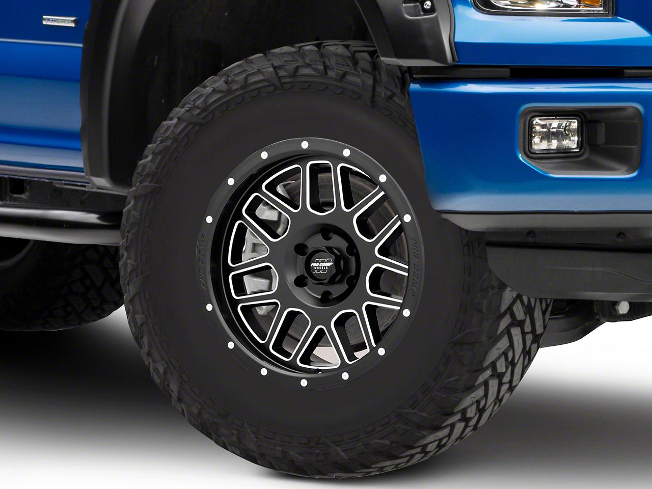 Pro Comp Vertigo Satin Black Milled 6-Lug Wheel - 17x9 (04-19 F-150)