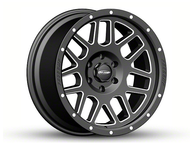Pro Comp Wheels Vertigo Satin Black Milled 6-Lug Wheel - 18x9 (04-19 F-150)