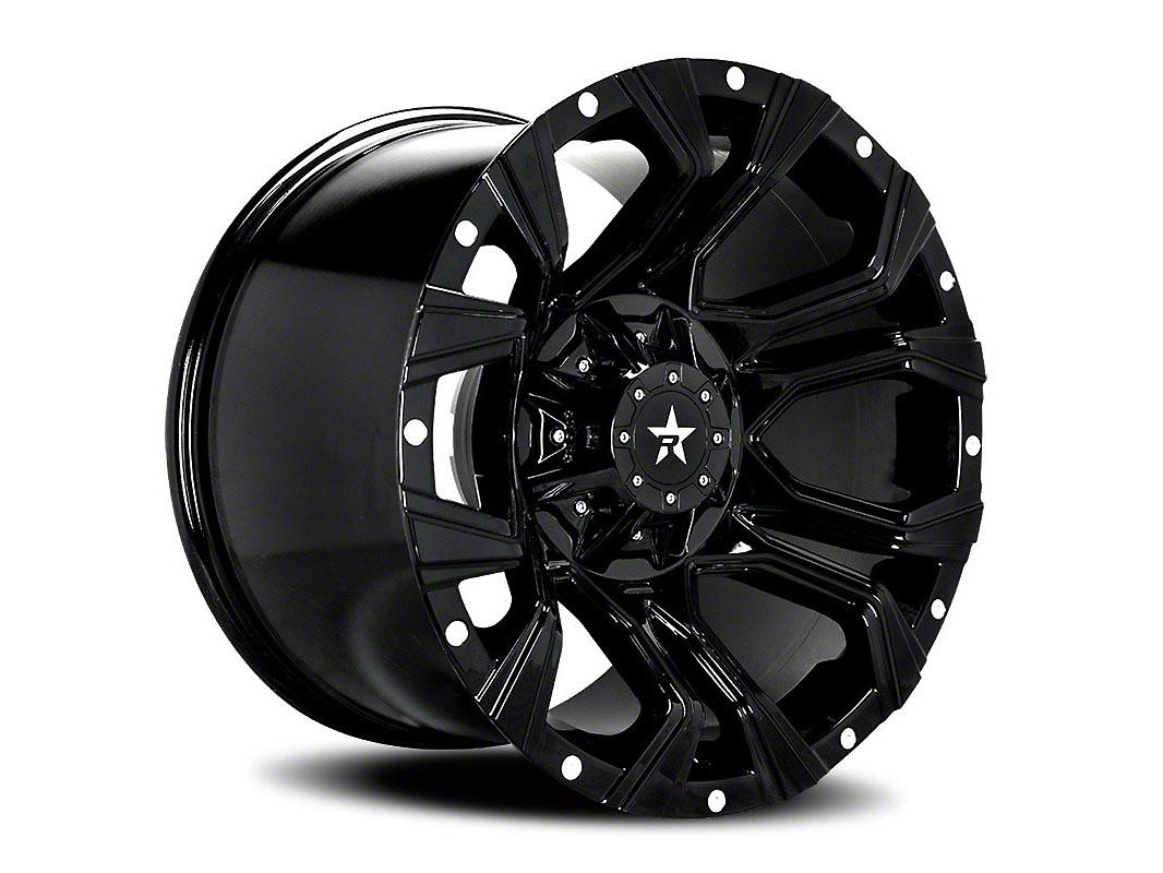 RBP 64R Widow Gloss Black w/ Machined Grooves 6-Lug Wheel - 20x12 (04-18 F-150)