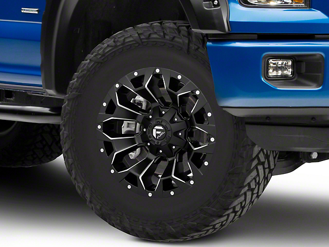 Fuel Wheels Assault Satin Black Milled 6-Lug Wheel; 18x9; 1mm Offset (15-20 F-150)