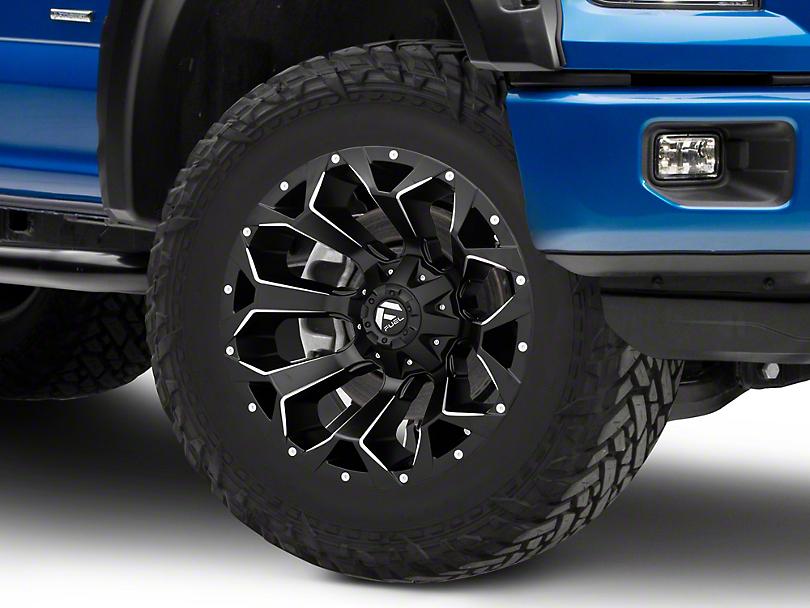 Fuel Wheels Assault Black Milled 6-Lug Wheel - 20x10; -18mm Offset (04-19 F-150)