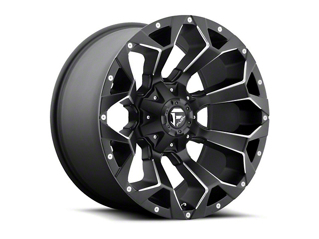 Fuel Wheels Assault Black Milled 6-Lug Wheel - 20x12 (04-19 F-150)