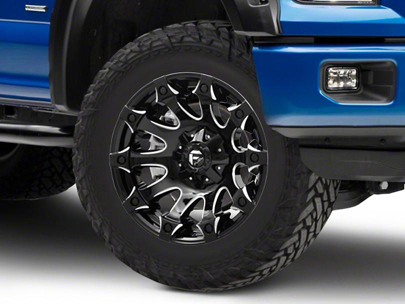 Fuel Wheels Battle Axe Gloss Black Milled 6-Lug Wheel - 20x10; -18mm Offset (15-19 F-150)