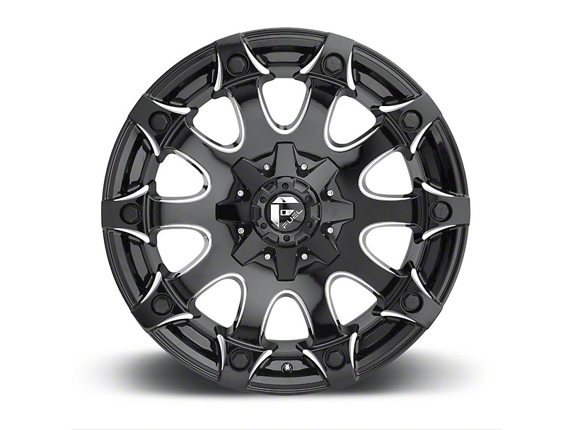 Fuel Wheels Battle Axe Gloss Black Milled 6-Lug Wheel - 20x9 (04-19 F-150)