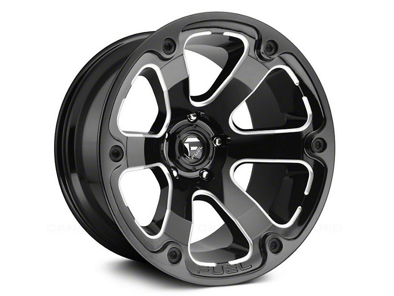 Fuel Wheels Beast Gloss Black Milled 6-Lug Wheel - 17x9 (15-19 F-150)