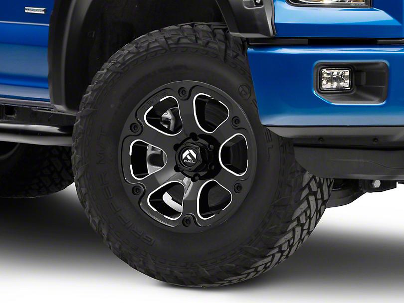 Fuel Wheels Beast Gloss Black Milled 6-Lug Wheel - 18x9 (15-19 F-150)