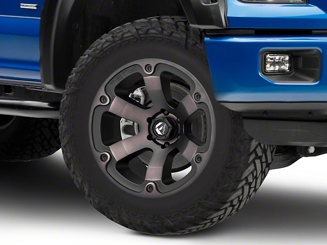 Fuel Wheels Beast Matte Black Machined 6-Lug Wheel - 20x10; -18mm Offset (15-19 F-150)