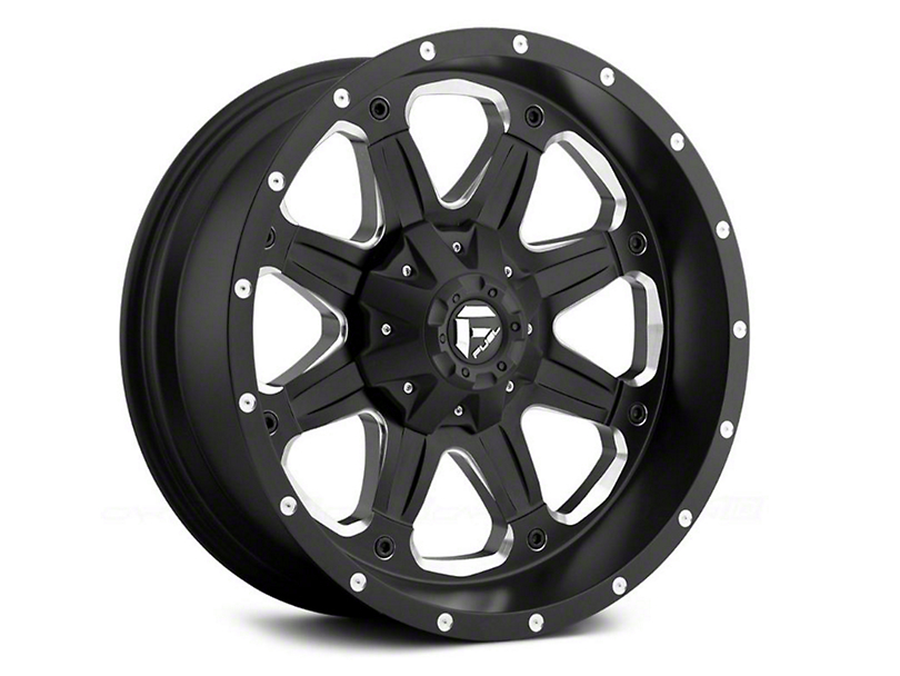 Fuel Wheels Boost Black Milled 6-Lug Wheel; 18x9 (15-20 F-150)