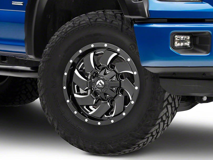 Fuel Wheels Cleaver Black Milled 6-Lug Wheel - 18x9 (15-19 F-150)