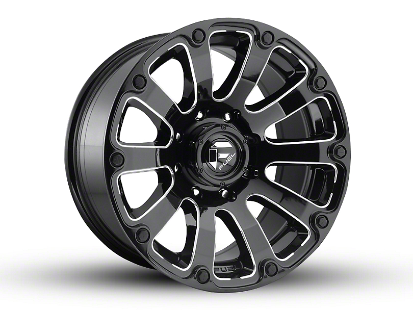 Fuel Wheels Diesel Gloss Black Milled 6-Lug Wheel - 20x10 (04-19 F-150)