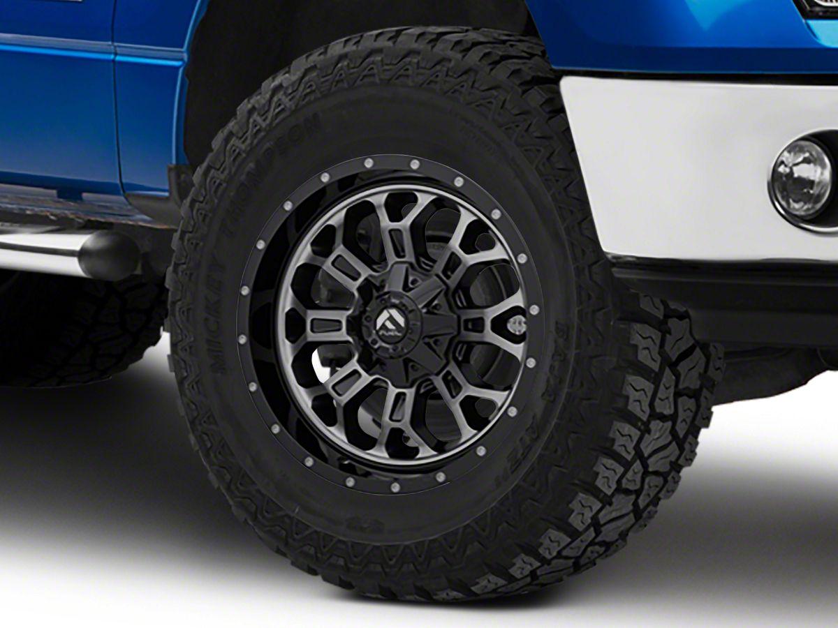 Fuel Wheels 20x9 >> Fuel Wheels Crush Matte Black Machined 6 Lug Wheel 20x9 20mm Offset 09 14 F 150