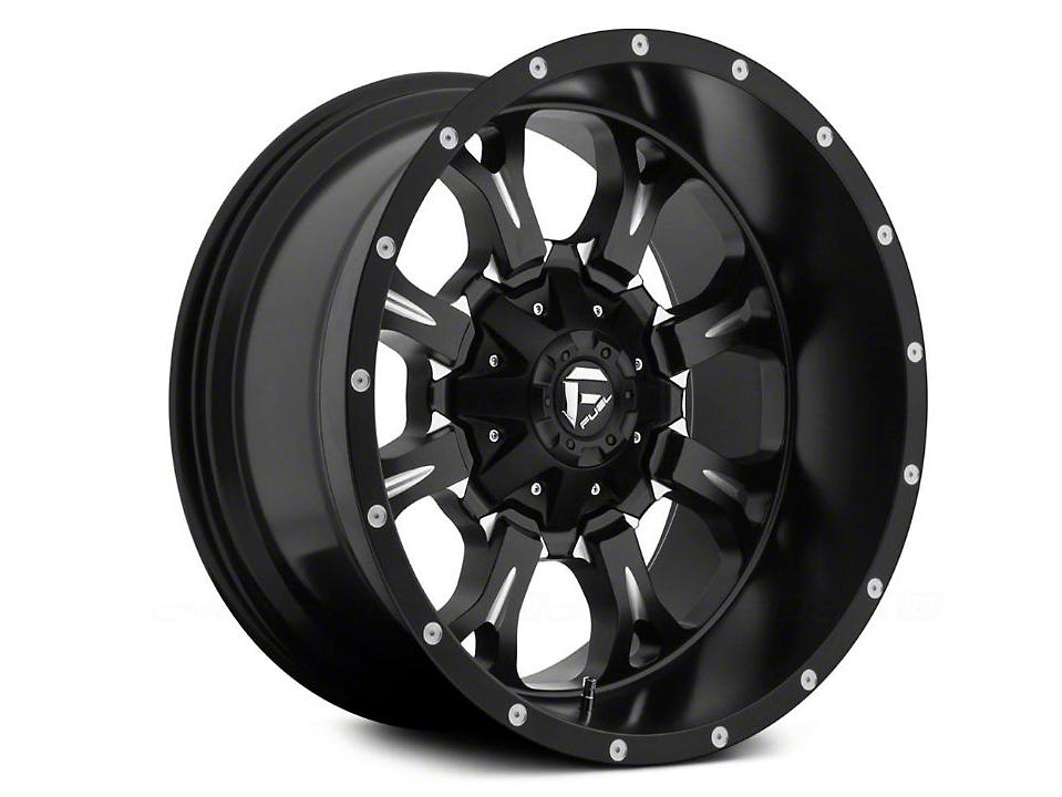 Fuel Wheels Krank Black Milled 6-Lug Wheel - 18x9 (04-19 F-150)