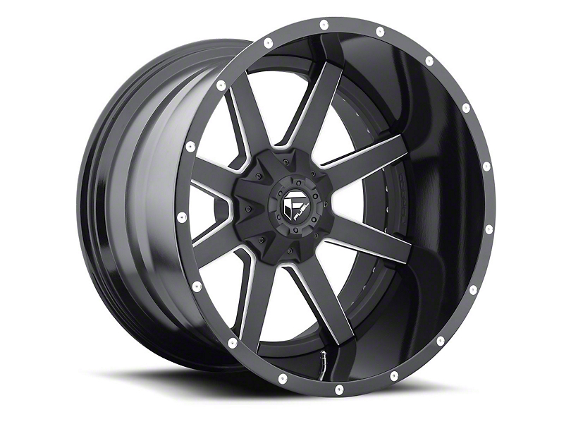 Fuel Wheels Maverick Black Milled 6-Lug Wheel - 22x10 (15-19 F-150)