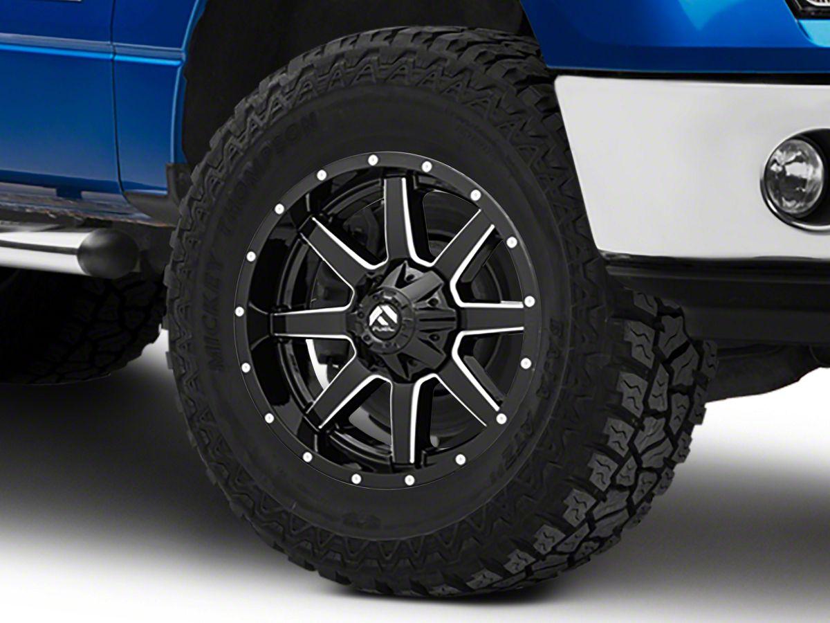Fuel Wheels 20x9 >> Fuel Wheels Maverick Gloss Black Milled 6 Lug Wheel 20x9 14mm Offset 09 14 F 150