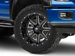 Fuel Wheels Maverick Gloss Black Milled 6 Lug Wheel 22x10 24mm Offset 15 19 F 150 365 00