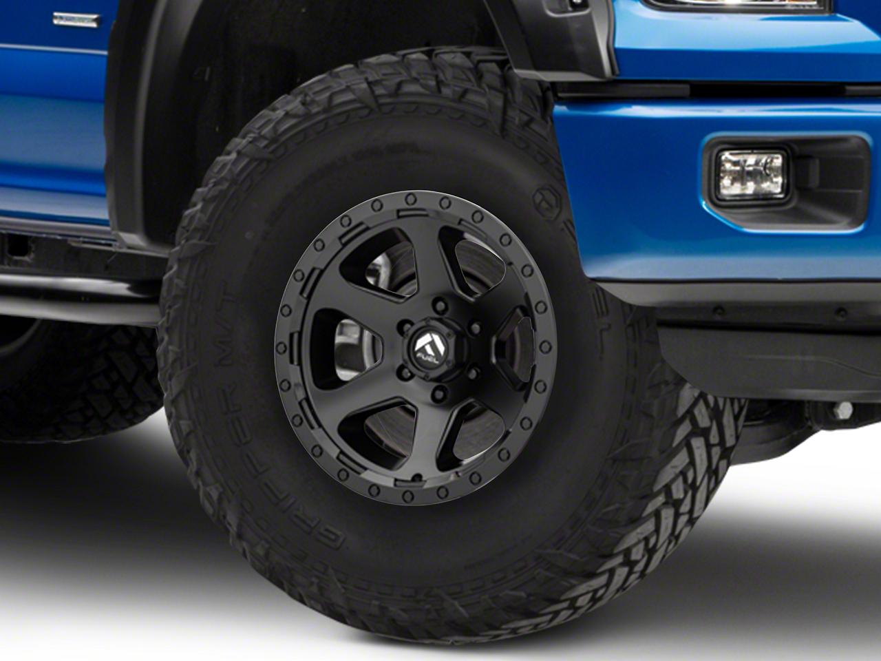 Fuel Wheels Ripper Matte Black 6-Lug Wheel - 17x9 (04-19 F-150)