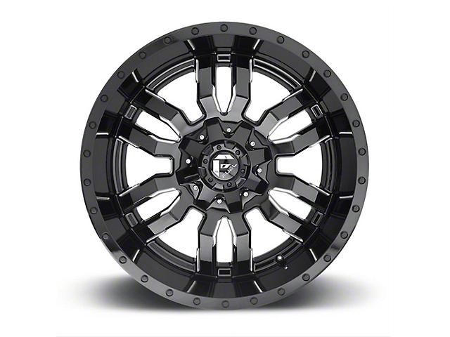Fuel Wheels Sledge Gloss Black Milled 6-Lug Wheel - 20x9 (09-14 F-150)